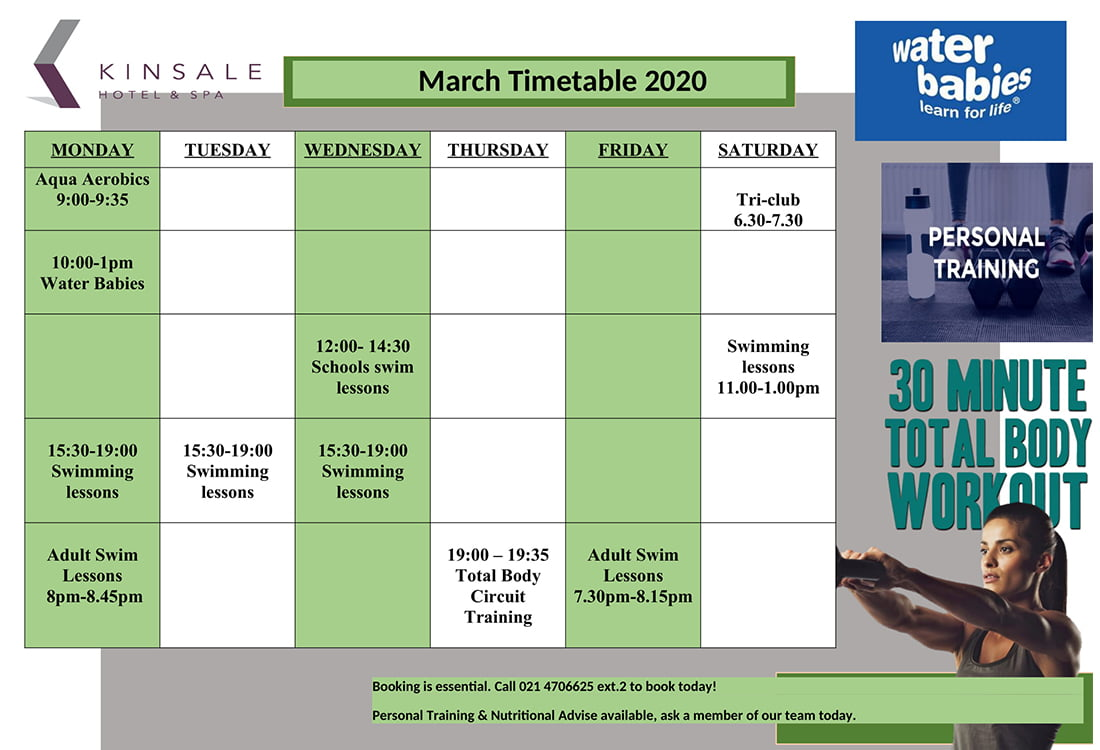 March Leisure Club Timetable