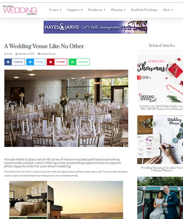 Ireland's Weddings Journal feature-with pictures of the wedding venue