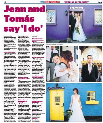 Real Wedding Feature in Cork Independent Wedding Supplement