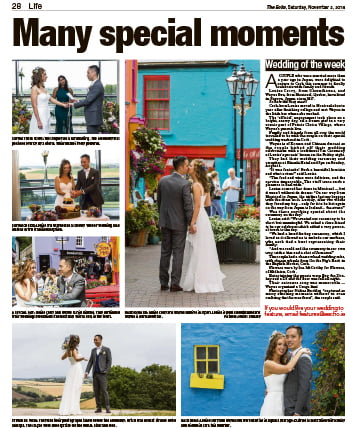Real wedding editorial in The Echo. Wedding of the week.