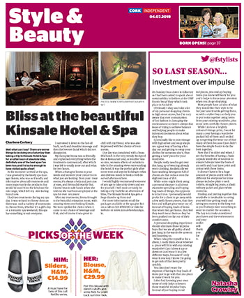 Spa Review In the Cork Independent